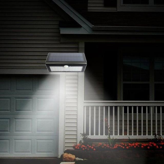 48 LED Solar Powered LED Light Garden Wall Light Waterproof PIR Motion  Sensor Solar Power Outdoor