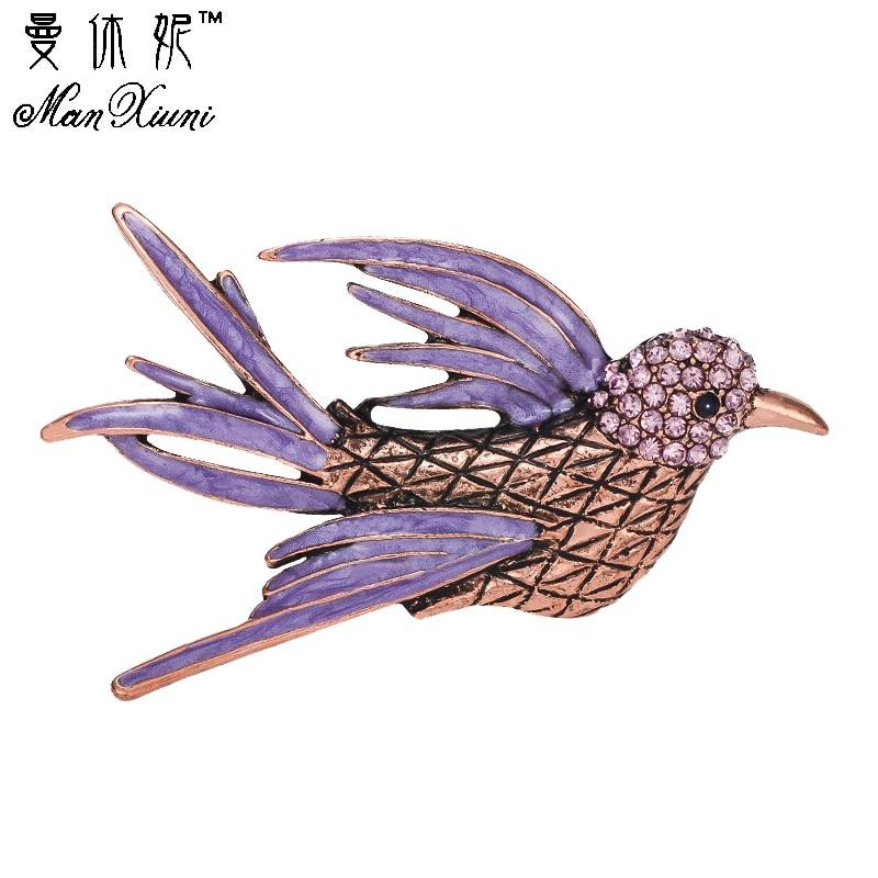 Brosuri clasice de top de lux Kawaii animale, păsări de papagal - Bijuterii de moda