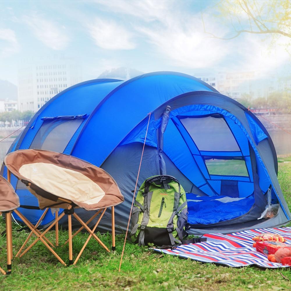 HUI LINGYANG jeter tente extérieure automatique tentes jeter pop up étanche camping randonnée tente étanche grande famille tentes - 4