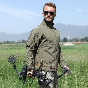 Image 4 - Мужская камуфляжная куртка, ветрозащитная тактическая куртка в стиле милитари, с воротником стойкой, флисовая верхняя одежда