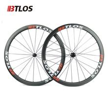 цена на Ultralight btlos WRC-38 Carbon Wheels 700C 38mm Clincher 26mm Width special braking Powerway R13  Road Bike Wheelset
