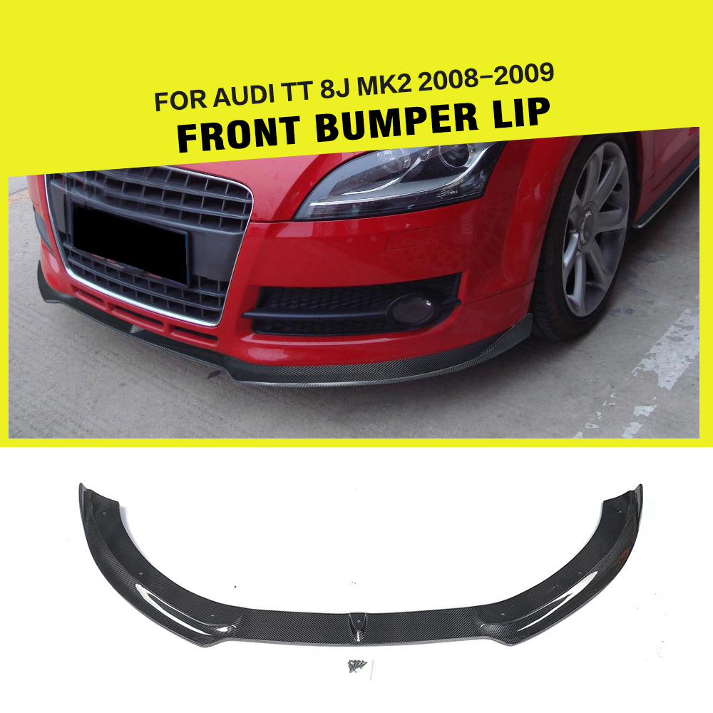 Car-Styling Carbon Fiber / FRP Racing Front Bumper Lip Splitter for Audi TT 8J MK2 Convertible Coupe 2-Door 2008 2009 модель автомобиля 1 18 motormax audi tt coupe