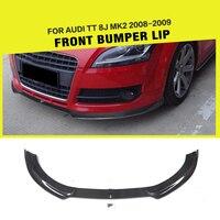 Car Styling Carbon Fiber / FRP Racing Front Bumper Lip Splitter for Audi TT 8J MK2 Convertible Coupe 2 Door 2008 2009