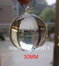 100 sztuk partia 30mm przezroczysty kryształ gładkie Ball z otworem do zawieszania kryształowe wiszące kulki X #8217 mas wesele wisiorek tanie tanio Kryształowy żyrandol Crystal Glass Chandelier Balls clear Crystal Glass Smooth Balls Crystal Glass Hanging Balls Safe Package