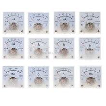 Класс 2,5 Точность DC 20mA 30mA 50mA 100mA 200mA 300mA 500mA 0-1A 2A 3A 5A 10A амперметр переменного тока аналоговые Панель Амперметр 91C4