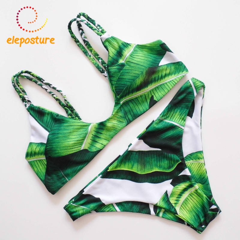 New Sexy Bikini Brazilian 2017 Swimwear Women Swimsuit Bandage Bikini Set Tropical Print Beach Wear Bathing Suit Maillot De Bain цена 2017