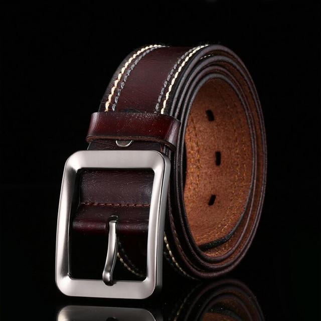 Fashion men brand belt 2017 male genuine leather belt male strap waistband for men new arrival belt for men