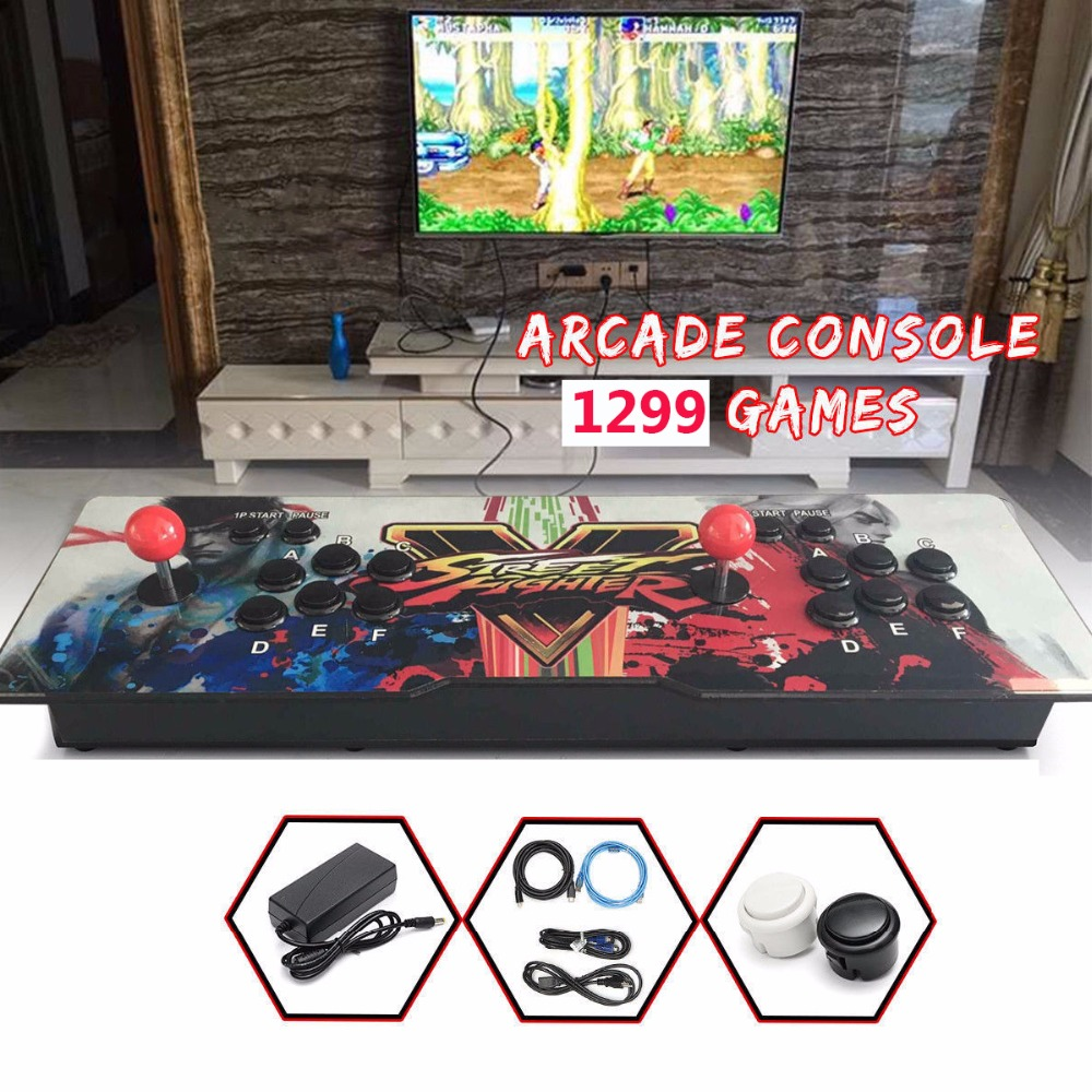 1299 Retro Video Games All in One Double Stick Arcade Console Hot sale Pandora Box 2018 hot sale real one l