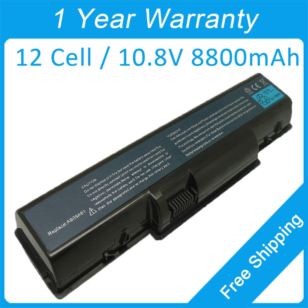 New 12cell 8800mah Laptop Battery For Acer Aspire 4732Z 5517 5734Z 5732Z 5516 4732 AS09A41 AS09A78 AS09A75 AS09A71 AS09A70 In Batteries From Computer