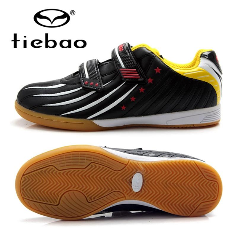 TIEBAO Brand Indoor Soccer Shoes Children Kids Street Football Boots IN & IC Rubber Soles Boys Girls Training Sneakers EU 30-38