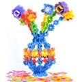 100 pçs/lote Alta Qualidade de Construção de Plástico Educacional Brinquedo De Plástico Do Floco de Neve Blocos Inteligência Educacional Brinquedo