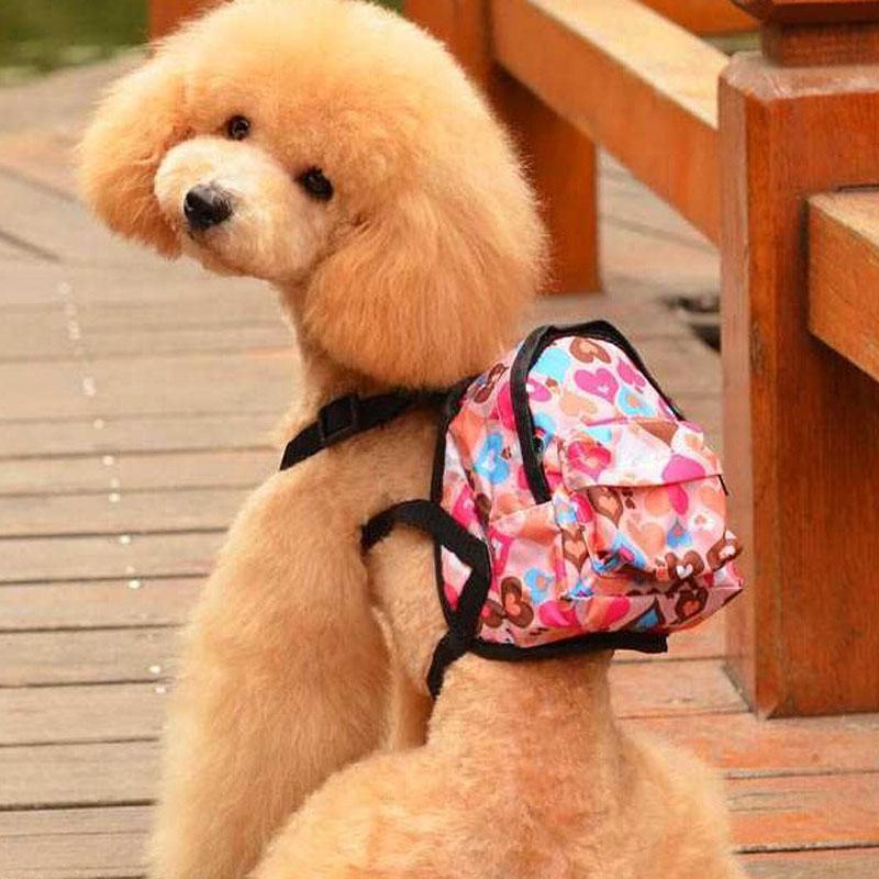 Cartoon Leuke Hond Rugzak Canvas Multicolor Pet Dog Carrier Tassen - Producten voor huisdieren