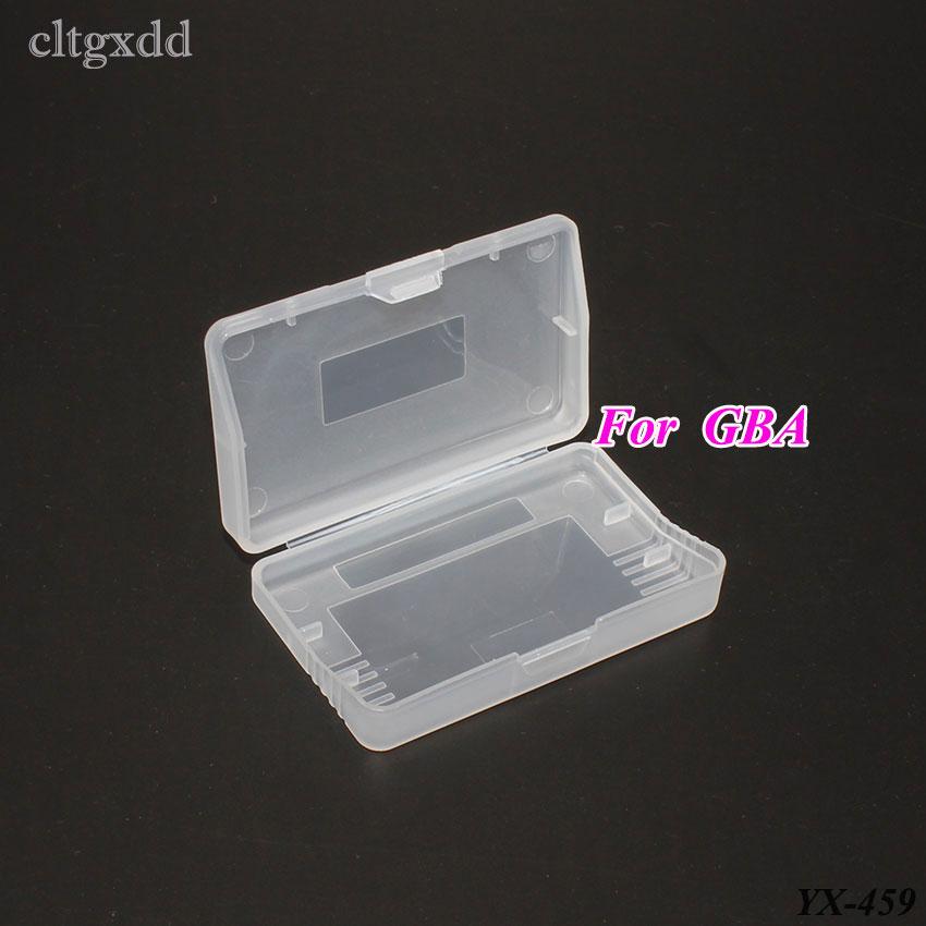 Cltgxdd plástico transparente cartões de jogo caixa armazenamento cartucho casos para gameboy avanço para gba protetor titular capa escudo