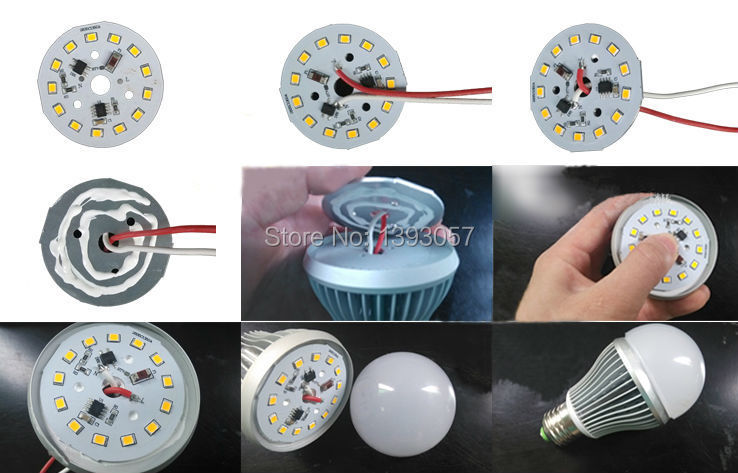 100 W SMD 5730 5630 LED PCB avec LED instal SMD5730 et pilote IC. Plaque en aluminium, livraison gratuite - 3