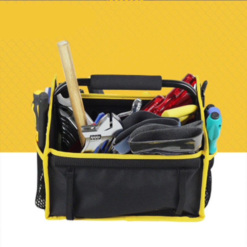 Oxford Cloth Electrician Tool Bags Thicken Hardware Professional Electrician Repair Storage Work Bag Holder Close Top Wide Mouth thgs 1 pcs tool kit pack hardware repair kit tool bag electrician work multifunction durable mechanics oxford cloth bag organi