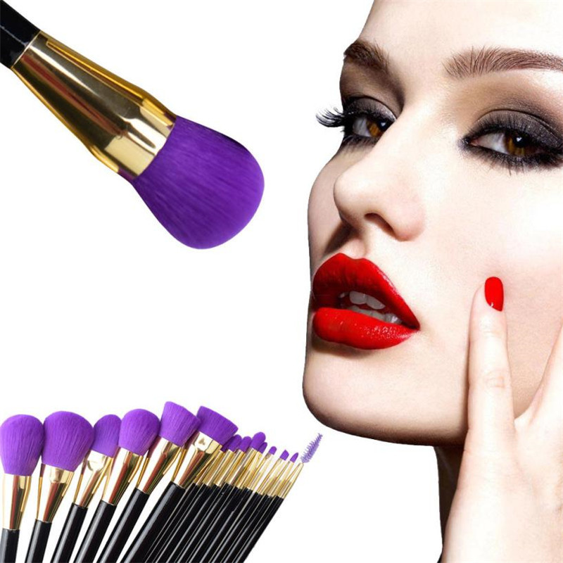 Women New Fashion Maquillage Makeup Brushes 15Pc Portable