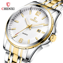 CHENXI 2019 Top Brand Luxury Mens Watches Fashion Stainless Steel Quartz Watch Male Waterproof Wristwatch Relogios Masculinos chenxi brand fashion luxury watch men casual stainless steel gold gift clock quartz male wristwatch relogios masculinos famosas