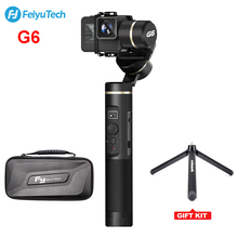 FeiyuTECH Feiyu G6 Gimbal Wifi Chống Nước + Răng Xanh Màn Hình OLED cho Camera Hành Động Anh Hùng 6 5 4 RX0 PK Zhiyun Smooth 4