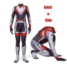 High quality Men Boys The Avengers 4 Endgame Quantum Realm Superhero Cosplay Costume Zentai Bodysuit Suit Jumpsuits