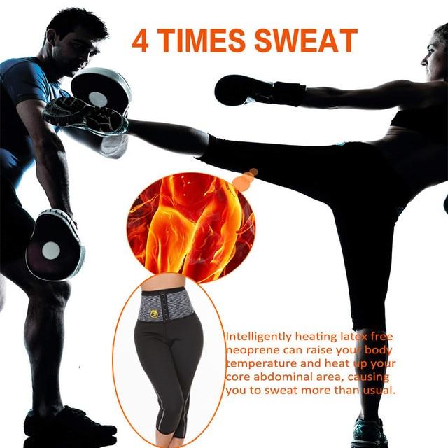 NINGMI Tummy Control Panties with Hook Waist Trainer Slimming Pants Neoprene Sauna Body Shaper Sport Leggings Shorts Butt Lifter 1