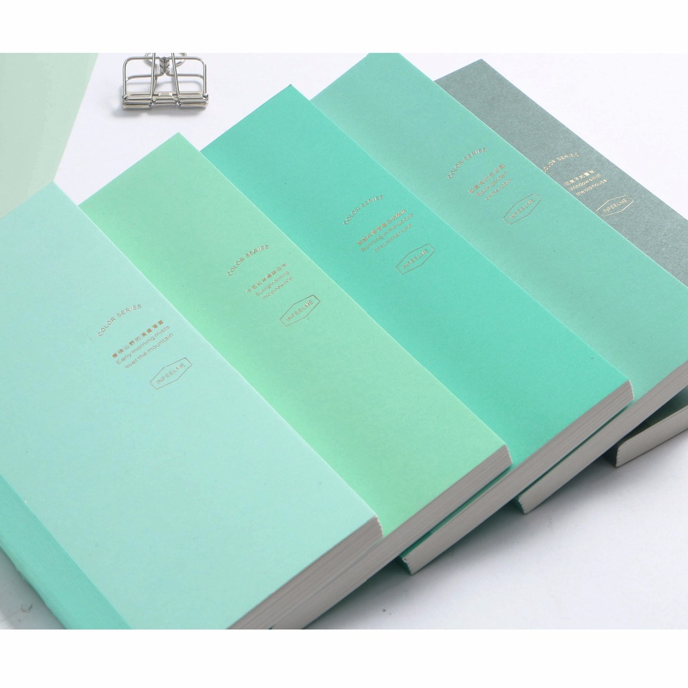 Mint Weeks Lovely Hobonichi Fashion Weeks Style Paper Book 80 Sheets Monthly+Weekly Plan+Daily Grid Paper 2018 New