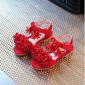 Zapatos de los niños Sandalias de Las Muchachas 2017 Nuevo Designe Summer Tassel Flock Moda Princesa Zapatos de Las Muchachas de Los Niños Sandalias Tamaño 26-30