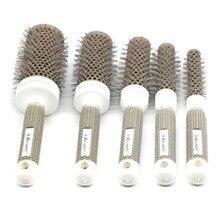 Nylon Heat-resistant Ceramic Brush Ionic Nano Technology Round Hair CB-97 High Quality 5pcs/set