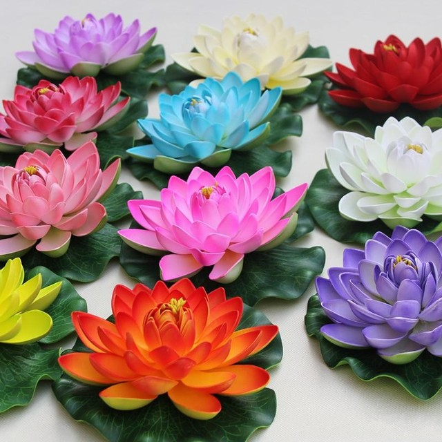 Diameter 60cm large artificial lotus flower floating pool decoration diameter 60cm large artificial lotus flower floating pool decoration six color in stock free shipping mightylinksfo