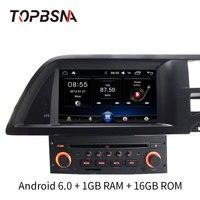 TOPBSNA 7 дюймов 1 Din автомобильный dvd плеер на основе Android для Citroen C5 мультимедиа gps навигации радио зеркальная связь WI FI с четырёхъядерным процес