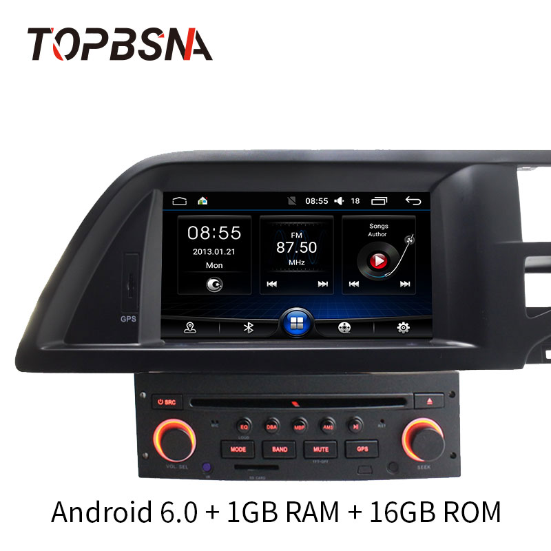 topbsna 7 inch 1 din android car dvd player for citroen c5. Black Bedroom Furniture Sets. Home Design Ideas