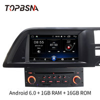 TOPBSNA 7 Inch 1 Din Android Car DVD Player For Citroen C5 Multimedia GPS Navigation Radio Mirror link WIFI Quad Cores GPS Navi