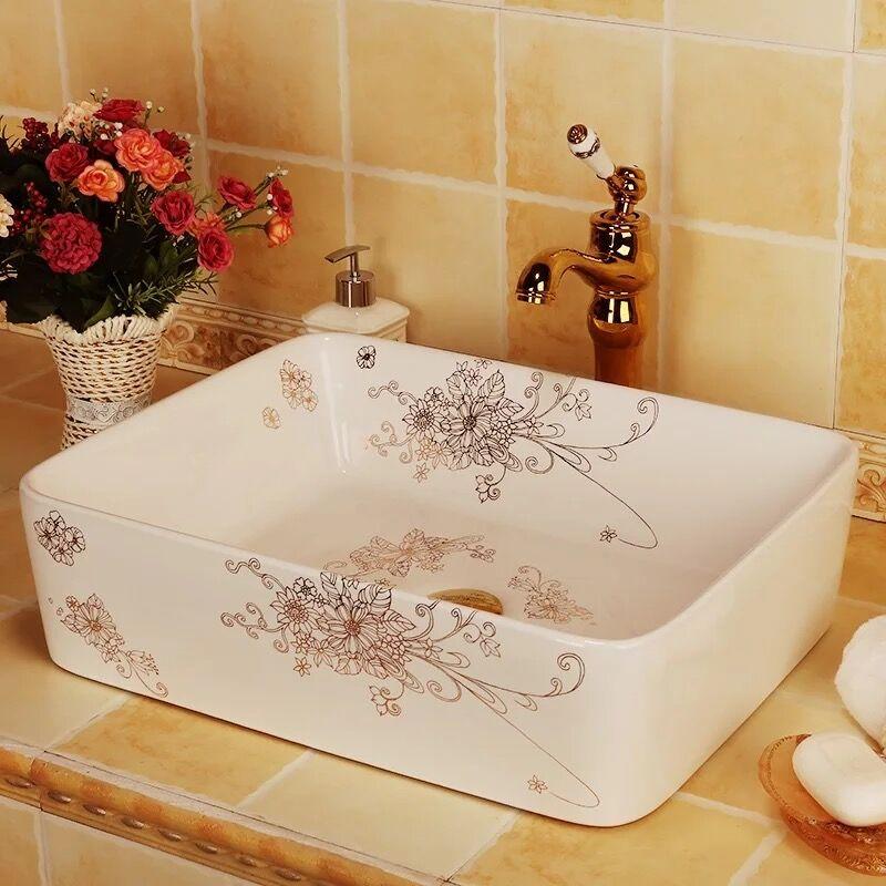 Rectangular shape ceramic wash basin for modern home decorationRectangular shape ceramic wash basin for modern home decoration