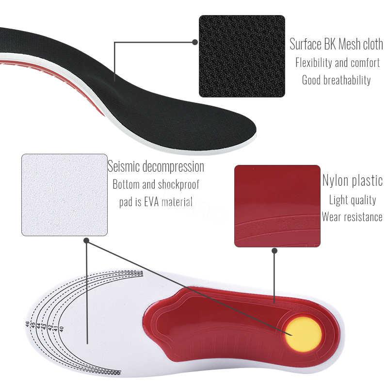 Elino ortopédicos plantillas pies planos soporte de arco cojines del zapato ortopédico plantillas para zapatos de absorción de choque cojín para los pies para hombres y mujeres