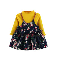 Toddler girl clothes Baby Kid Girl Outfits knit T-shirt Tops Dress baby girl clothes Set Costume for girls ropa mujer