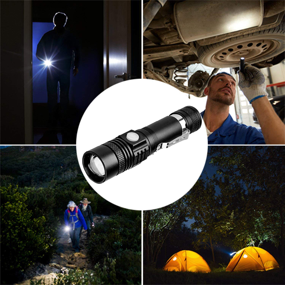 Купить с кэшбэком Mini 4000LM T6 LED Flashlight Spot Lamp IPX6 Waterproof High Power Portable 3 Models Zoom Camping Equipment Torch lamp By 18650