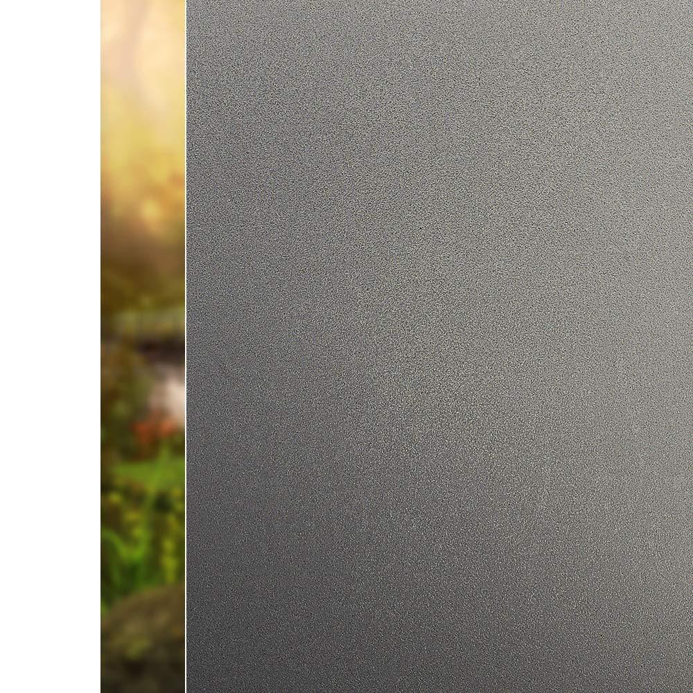 Privacy Window Film Frosted No Glue Anti-UV Sticker White Cling Non-Adhesive for 17.5x78.7