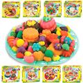 Kids Playdough Ice Cream Plasticine Children Educational Toys Ultralight FIMO Polymer Clay a Set of play doh Moulds Kit tools