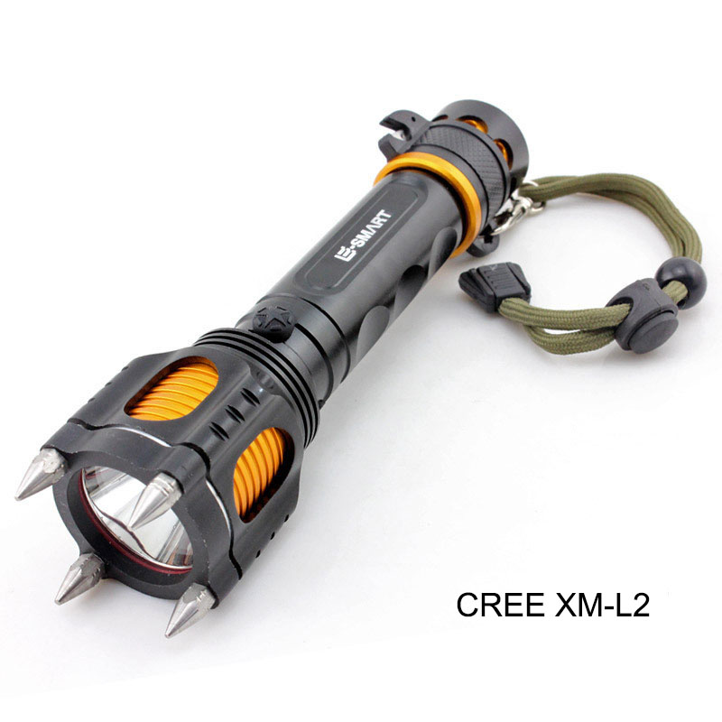 CREE XM-L2 police tactical led flashlight defensive flash torch lamp flashlights multi-function lampe torche taschenlampe