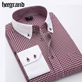 HEE GRAND 2017 New Spring Men Stripped Business Shirts Leisure Turn-down Collar  Full Sleeve Shirt MCL1773