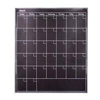 52*43cm Removable Magnetic Fridge Calendar Stickers Chalkboard Wall Stickers Dry Erase Board Blackboard Month Magnets