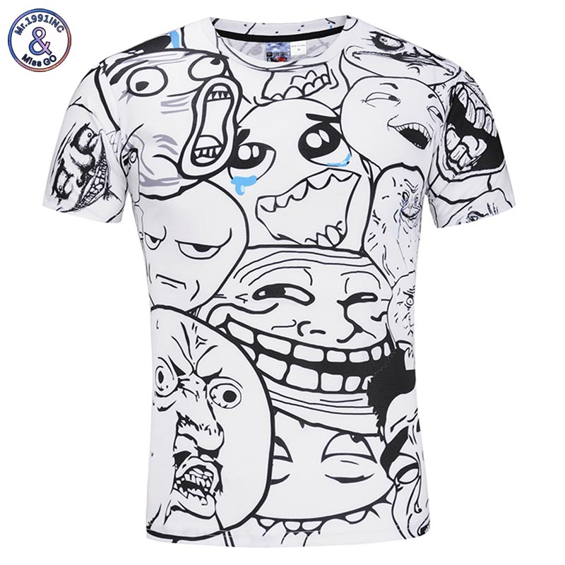 Mr.1991INC Anime T-shirt Männer/Frauen 3d T-shirt Druck Cartoon Alien Sommer Tops Tees Shirts Asien S-3XL