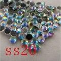 Стразы кристалл AB SS20 DMC исправление FlatBack исправление камень железа на шитье одежды камни