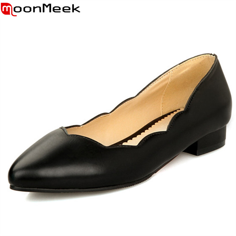 Plus size US 3-20 2015 new fashion soft leather women flats black red blue white ladies flat shoes woman casual shoe