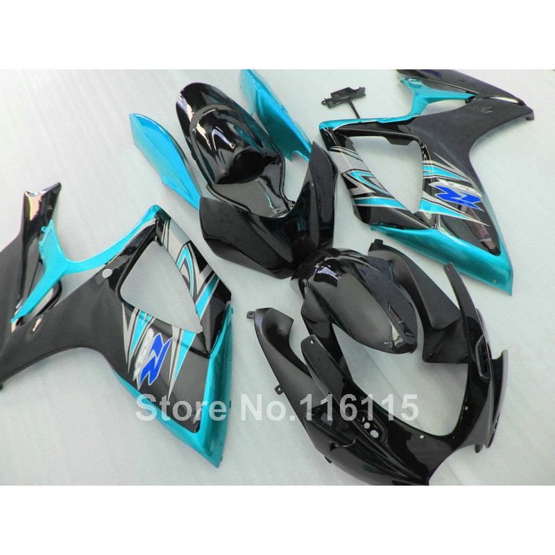 Injection mold fairing kit for SUZUKI GSXR 600 750 K6 K7 2006 2007  GSXR600 GSXR750 06 07 green black fairings set NG88 every набор чехлов для дивана every цвет горчичный