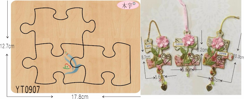 Decorate YT0907 DIY new wooden mould cutting dies for scrapbooking Thickness 15 8mm MY