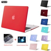 Матовый чехол MOSISO для ноутбука MacBook Pro 13 Retina 13,3 15,4, Обложка для ноутбука Mac Book New Pro 13 Pro 15 дюймов с сенсорной панелью