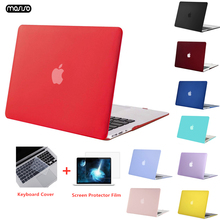 MOSISO Matte Laptop Case Para MacBook Pro Retina 13 13.3 15.4 Notebook Capa para Mac Book Novo Pro 13 Pro 15 polegada com Barra de Toque