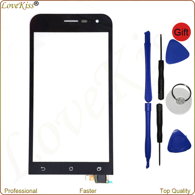 """ZE500CL 5"""" Black Front Panel Digitizer For Asus ZenFone 2 Z00D Touch Screen Sensor LCD Display Outer Glass Replacement With Tool"""