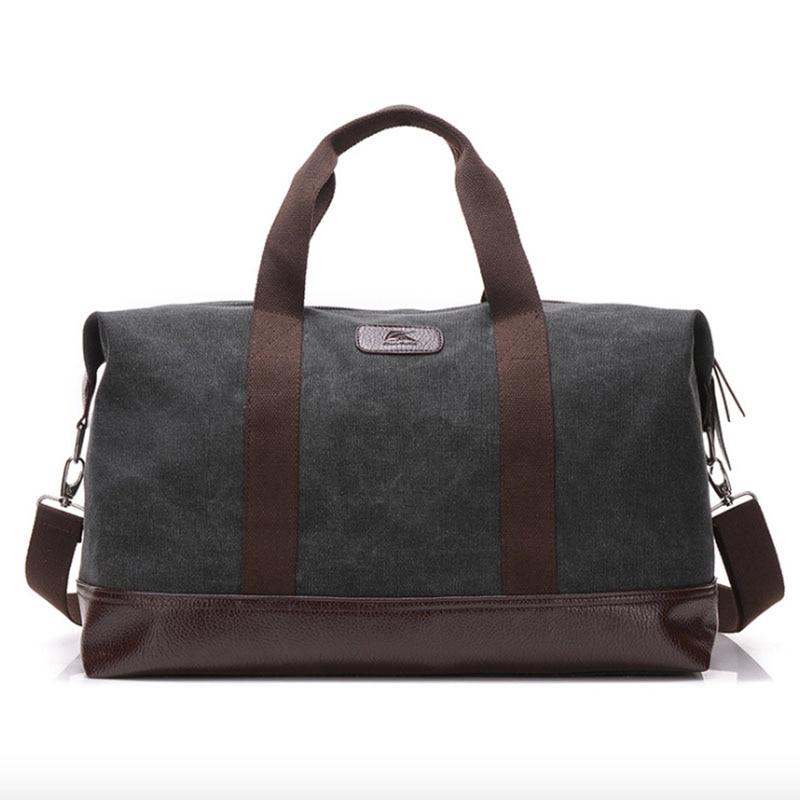 Canvas Travel Shoulder Bag Large Capacity Men Handbag Luggage Duffle Tote Weekend Women Top-handle Crossbody Bags