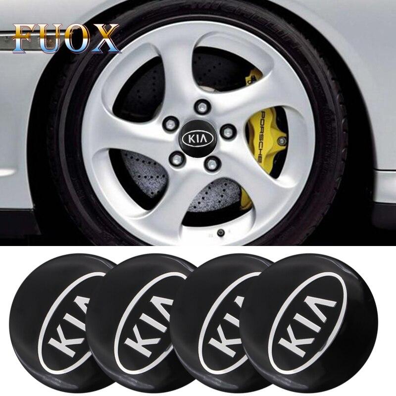 Car-styling Decorative Car Wheel Center Hub Caps Badge Sticker FOR KIA K2 K3 K5 K9 Sorento Sportage R Rio Soul Auto Accessories